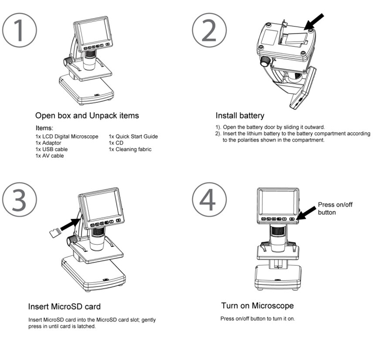 LCD Digital Microscope Quick Start Guide 01